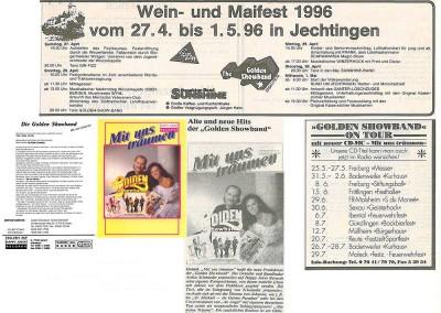 1996 - Termine & CD-Vorstellung