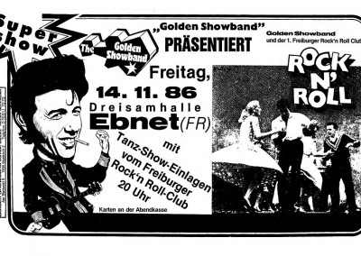 1986 mit Freiburger Rock'n Roll Club