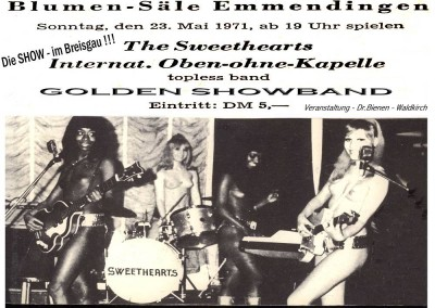 23.05.1971mit Sweethearts-Blumensäle Emmendingen
