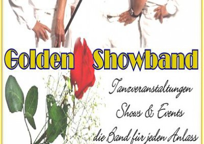Golden Showband mit Rose