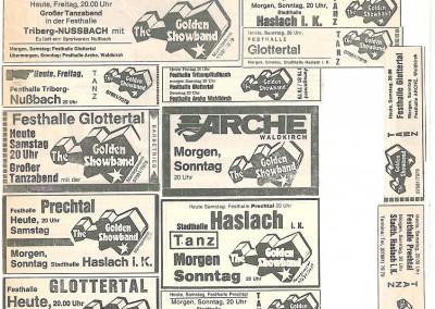 Zeitungs-Werbung in den 70er-Jahren - Jedes Wochenende-bis  2000