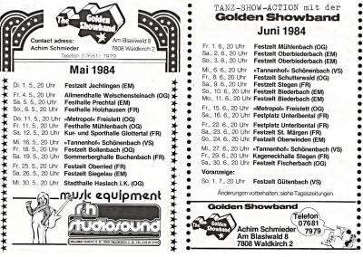 05. & 06. 1984 TOUR-EXPRESS