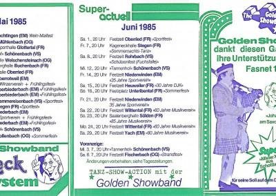 05. & 06. 1985 TOUR-EXPRESS