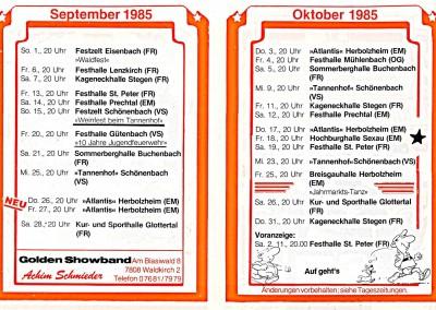 09. & 10. 1985  TOUR-EXPRESS
