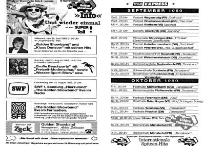 09. & 10. 1989  TOUR-EXPRESS
