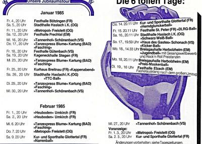 1985 TOUR-EXPRESS (Innenseiten) 15 Jahre GSB