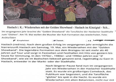 13.04.2012 Wiedersehen mit der Golden Showband